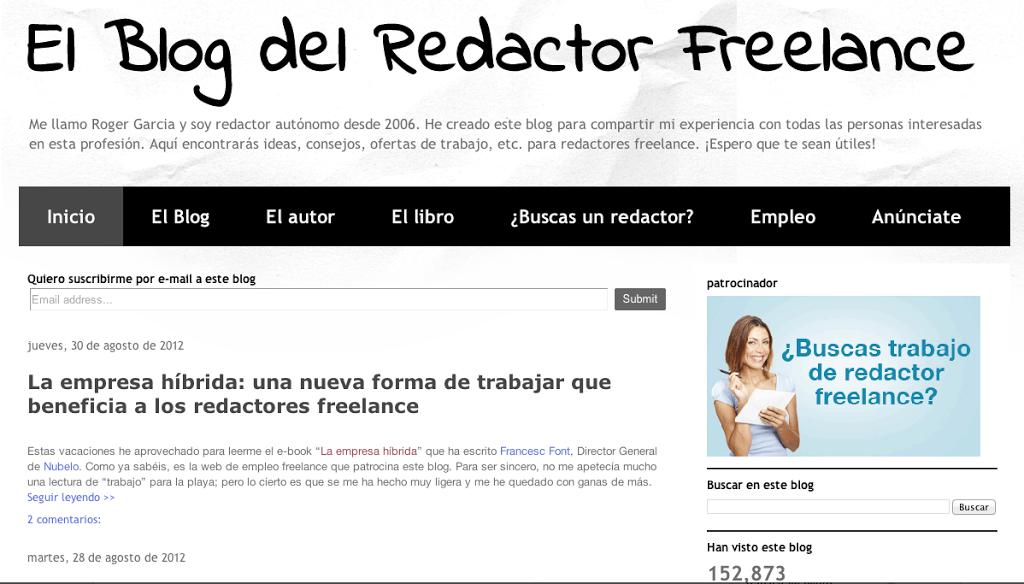 Aprende a ganar dinero escribiendo desde casa con El Blog del Redactor Freelance