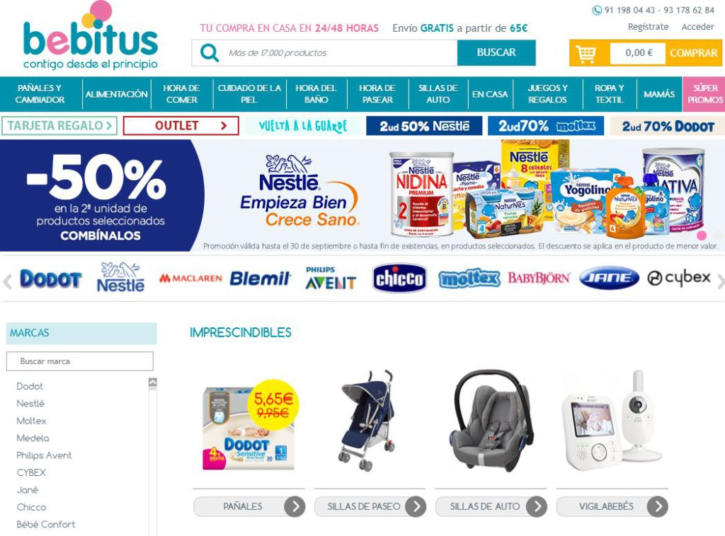 Los consumidores eligen a Bebitus como la séptima mejor tienda online española