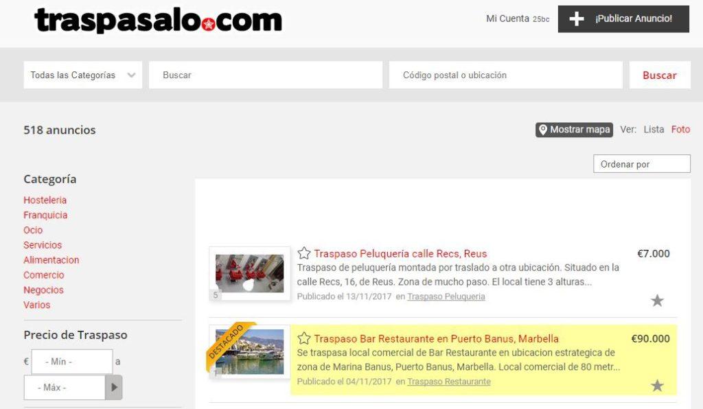 El sector de la hostelería genera el 38 % de los traspasos en España